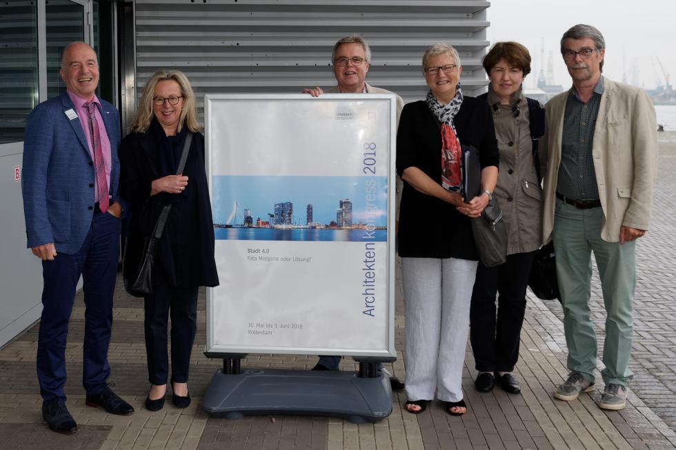Mitglieder der VAA beim Architekturkongress in Rotterdam